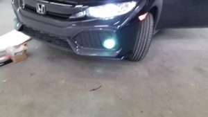 How to install 2017 Honda Civic Hatchback fog light