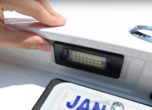 Install LED License Plate Light